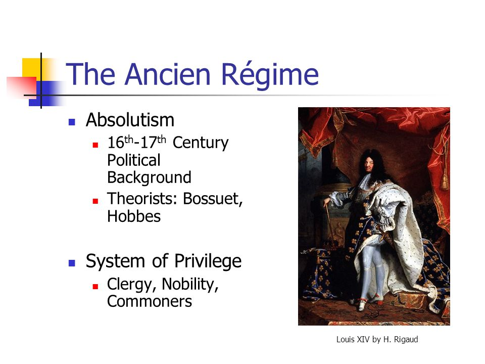The Ancien Régime Absolutism System of Privilege