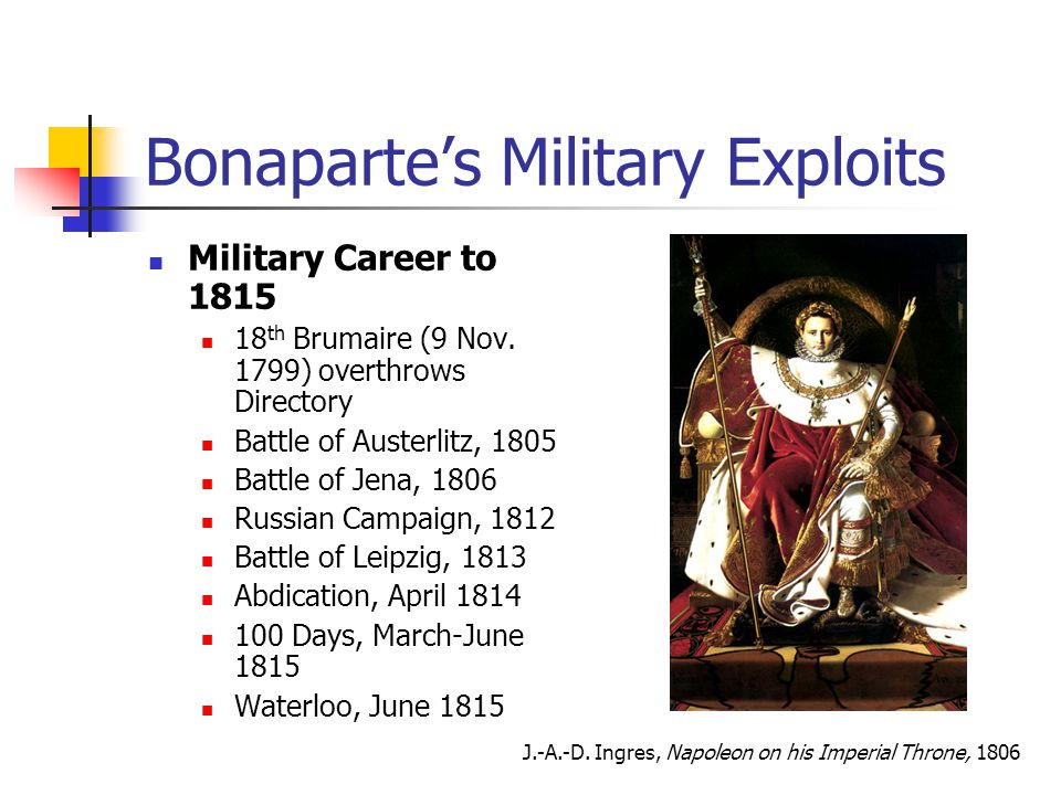 Bonaparte's Military Exploits
