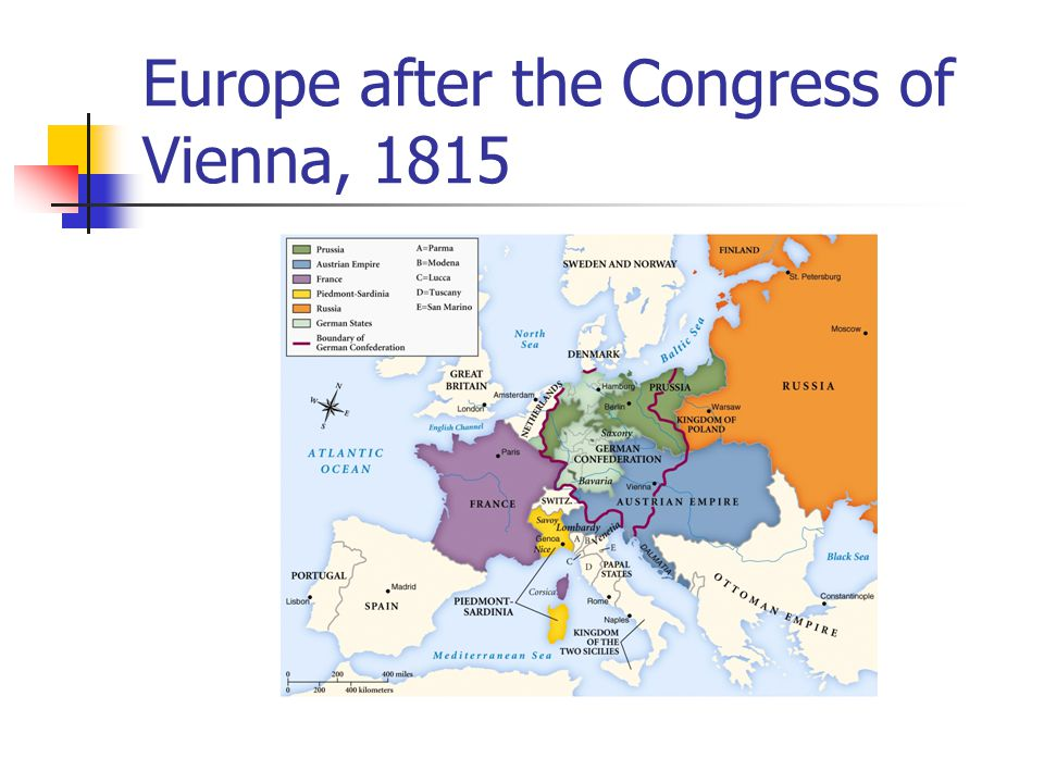 Europe after the Congress of Vienna, 1815