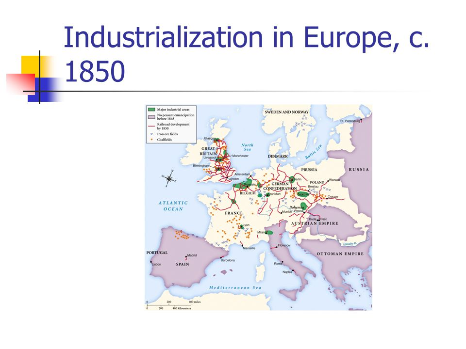 Industrialization in Europe, c. 1850