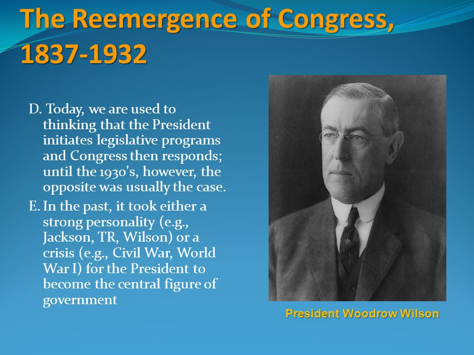 The Reemergence of Congress, 1837-1932