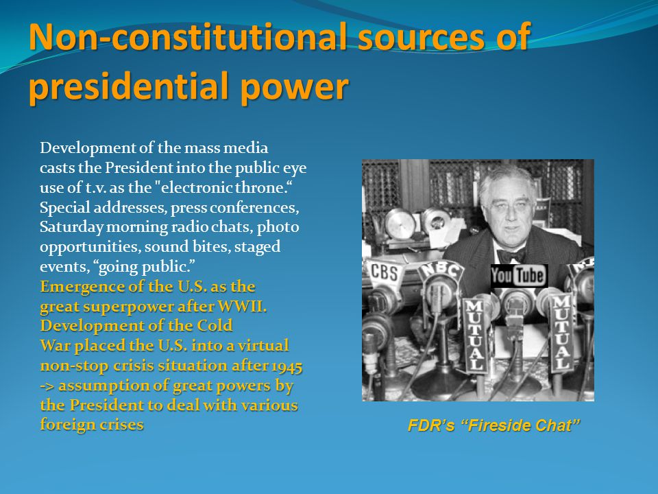 Non-constitutional sources of presidential power