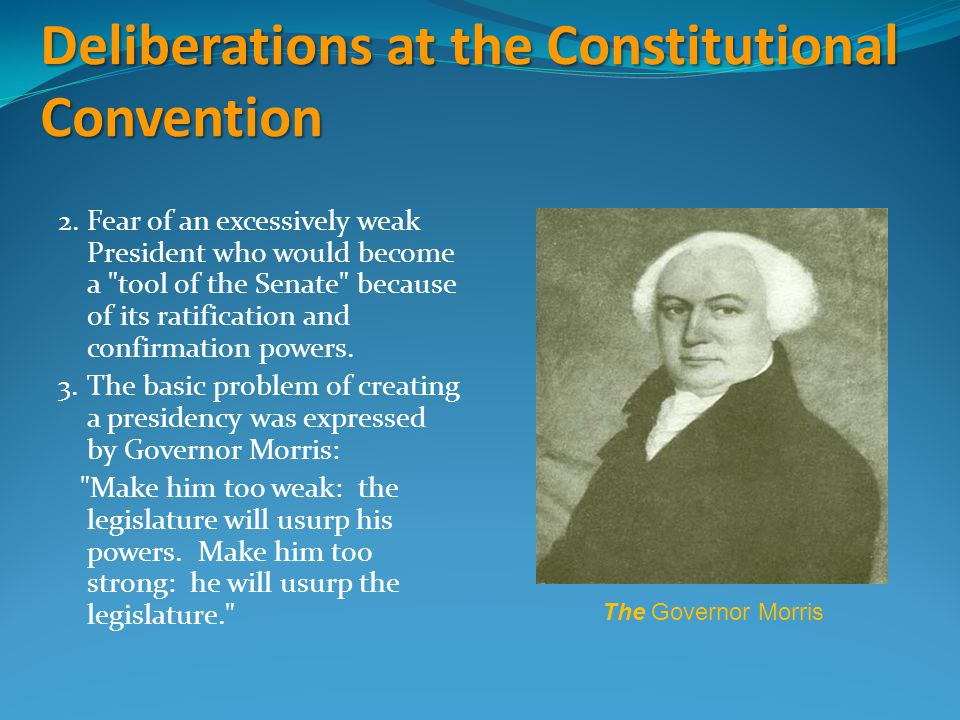 Deliberations at the Constitutional Convention
