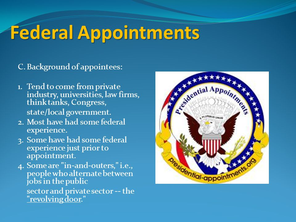 Federal Appointments