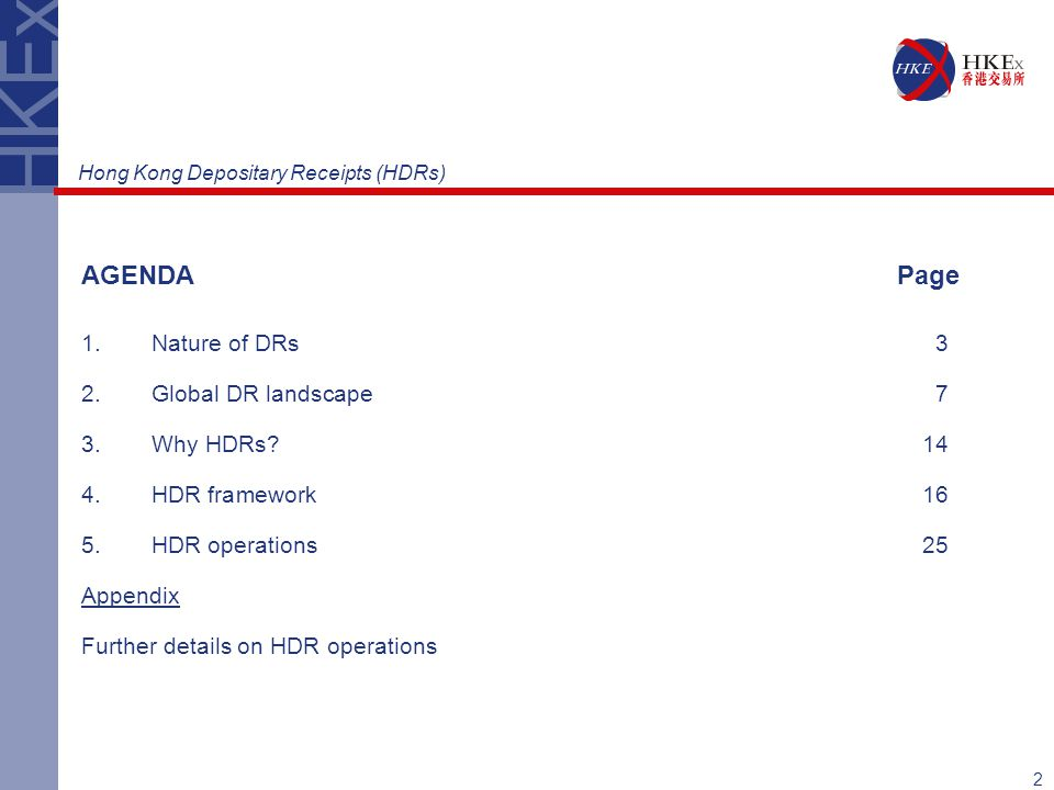 AGENDA Page Nature of DRs 3 2. Global DR landscape 7 Why HDRs 14