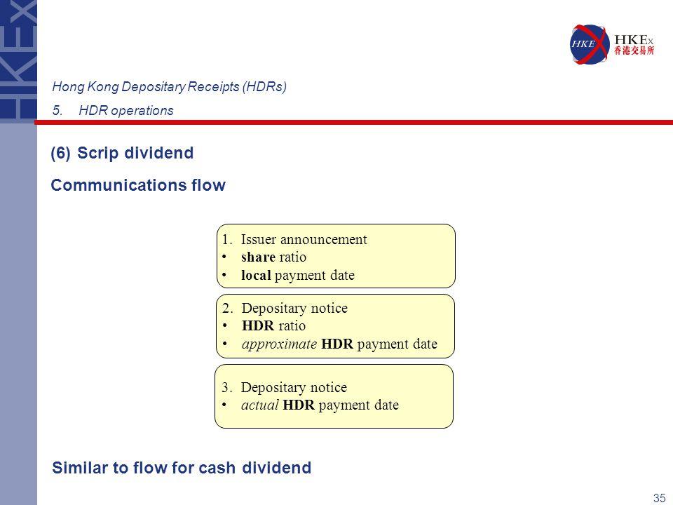 Similar to flow for cash dividend
