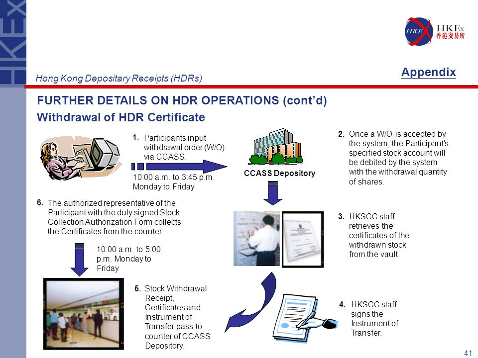 FURTHER DETAILS ON HDR OPERATIONS (cont'd)