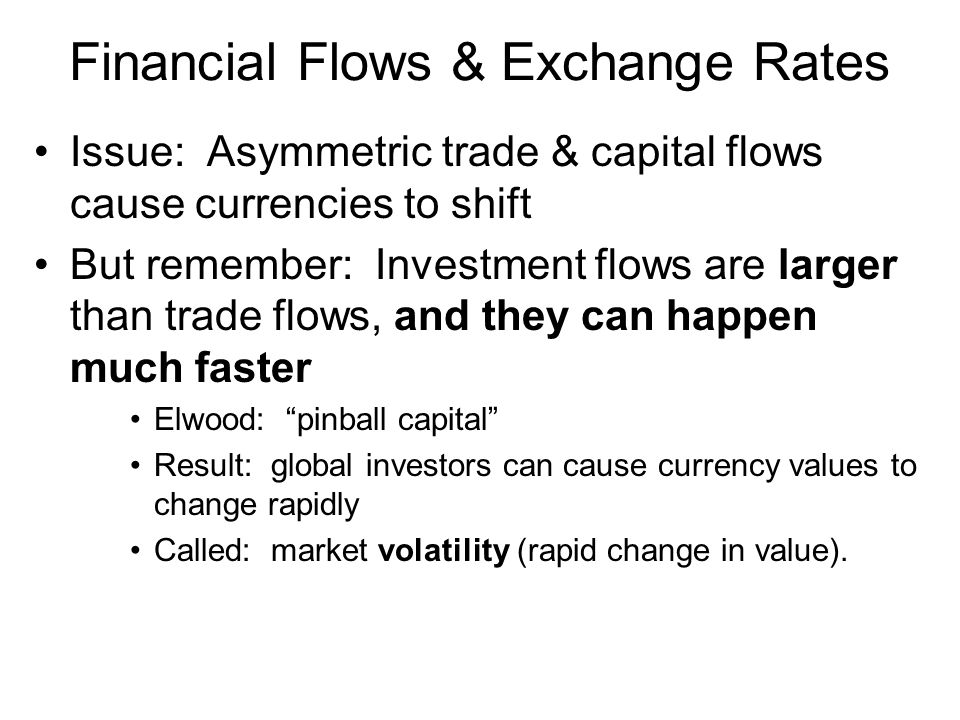 Financial Flows & Exchange Rates