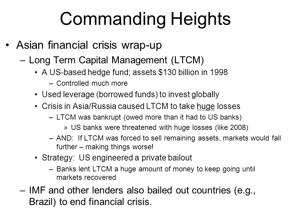 Commanding Heights Asian financial crisis wrap-up