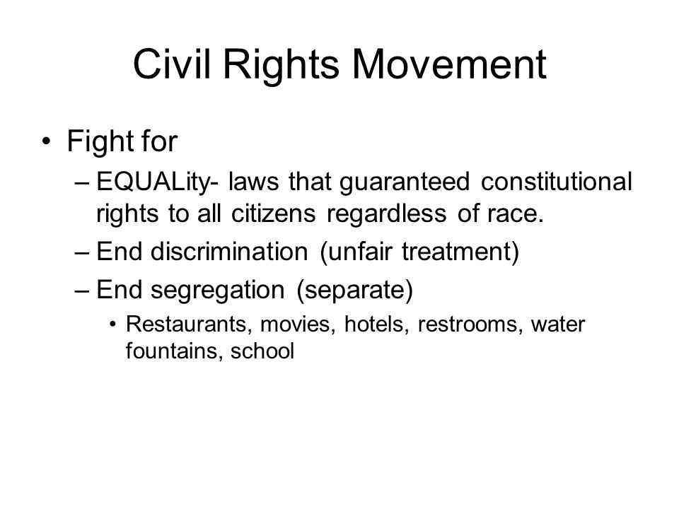 Civil Rights Movement Fight for