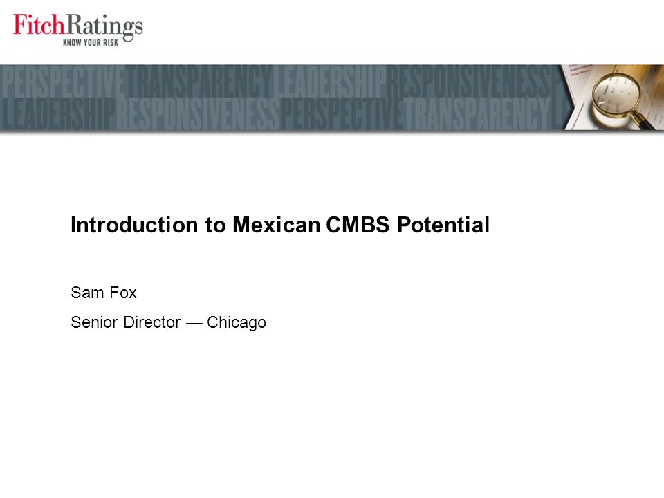 Introduction to Mexican CMBS Potential
