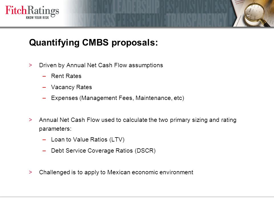 Quantifying CMBS proposals: