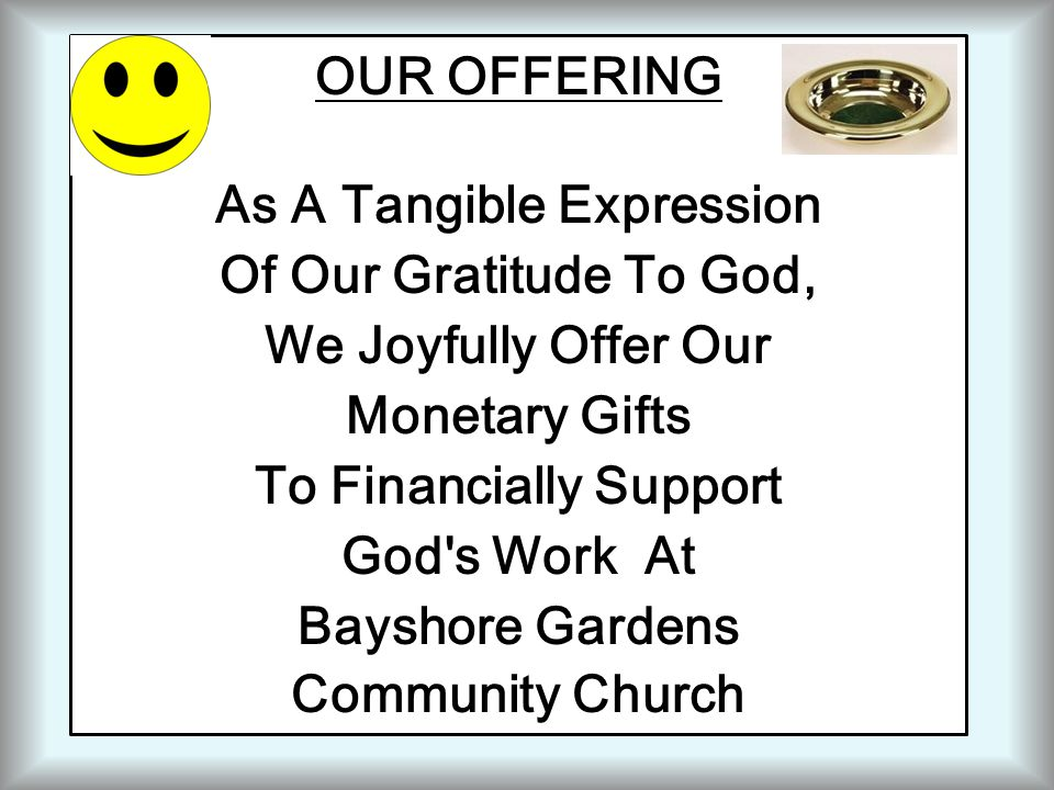 As A Tangible Expression To Financially Support