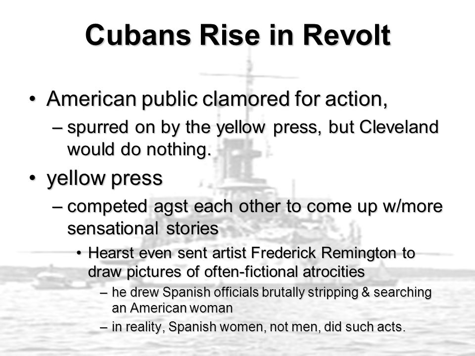 Cubans Rise in Revolt American public clamored for action,