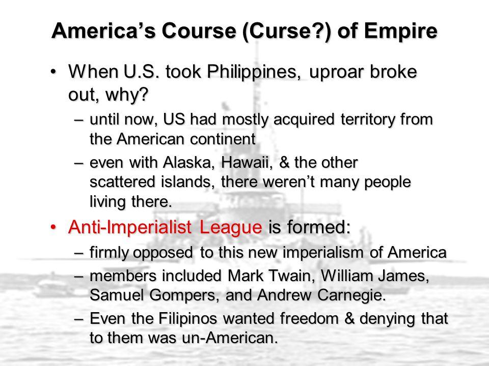 America's Course (Curse ) of Empire