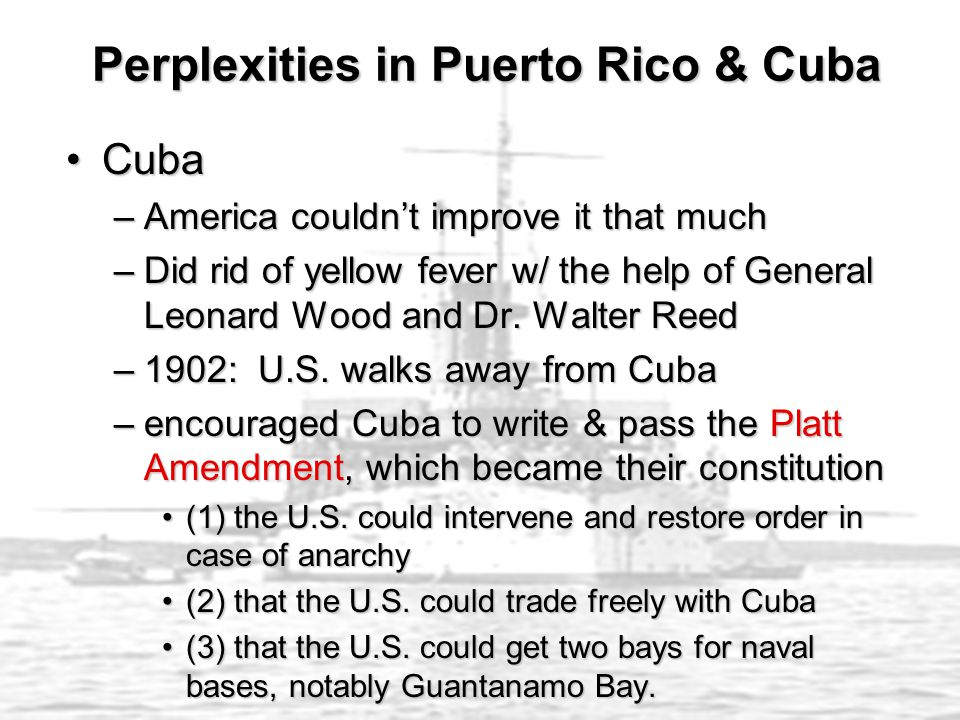 Perplexities in Puerto Rico & Cuba
