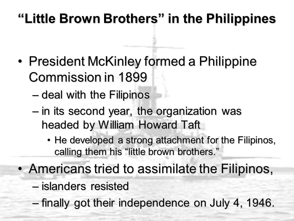 Little Brown Brothers in the Philippines
