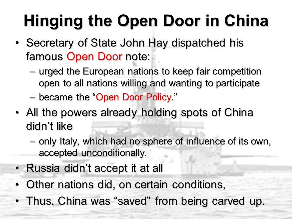 Hinging the Open Door in China