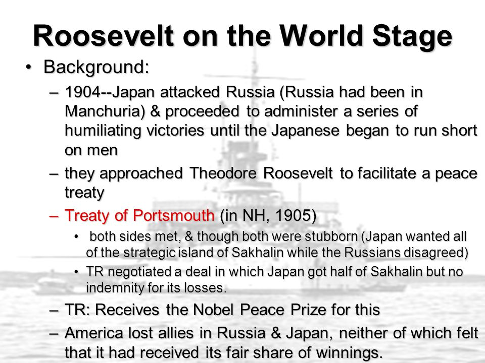 Roosevelt on the World Stage