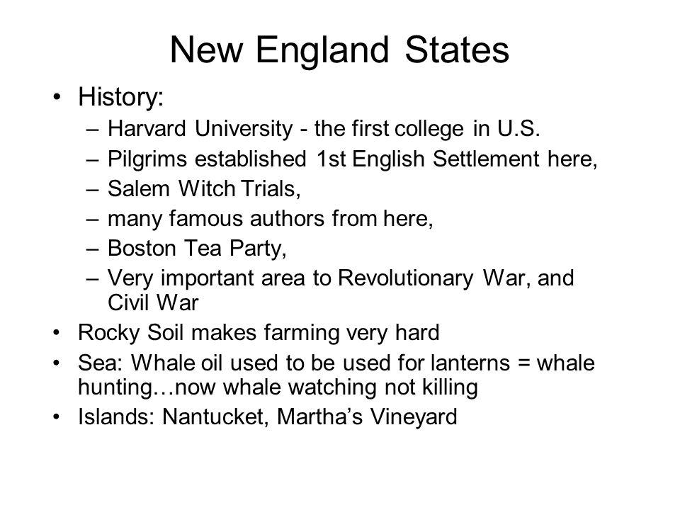 New England States History: