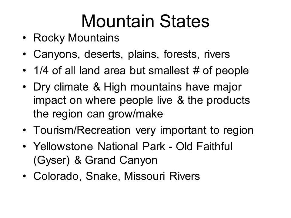 Mountain States Rocky Mountains