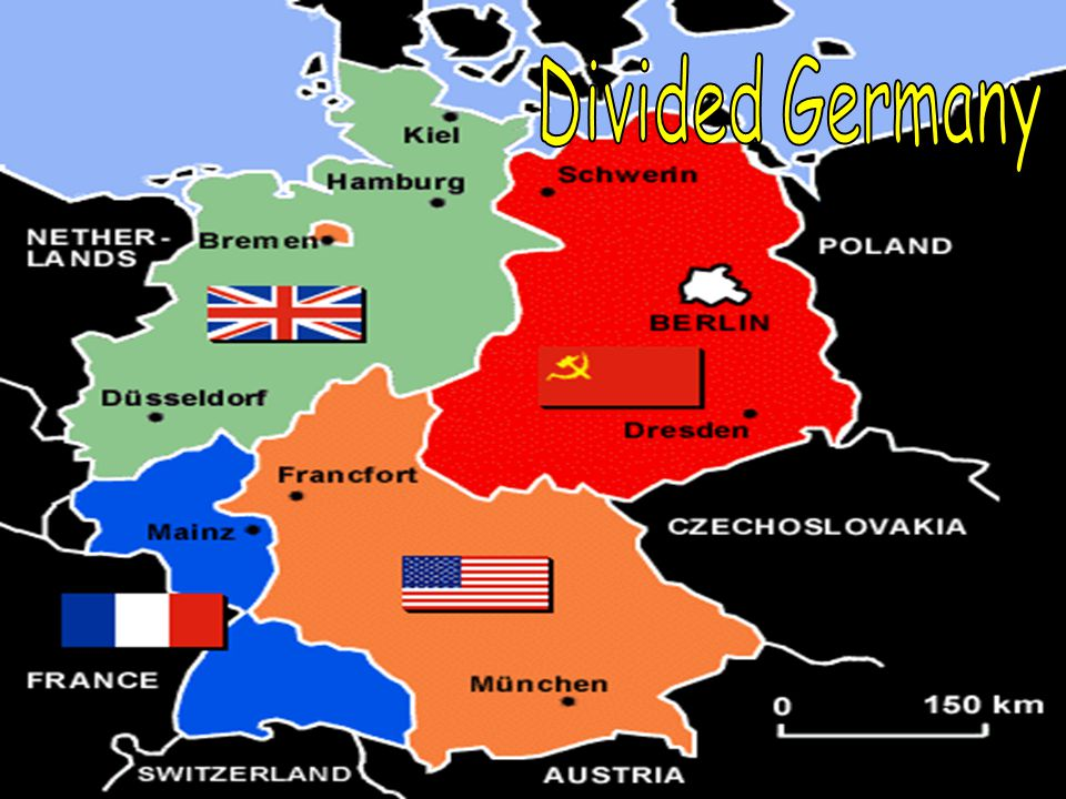 Divided Germany Iron Curtain – A term used by Winston Churchill