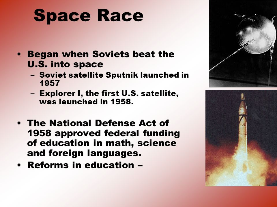 Space Race Began when Soviets beat the U.S. into space