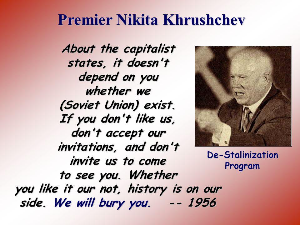 Premier Nikita Khrushchev De-Stalinization Program