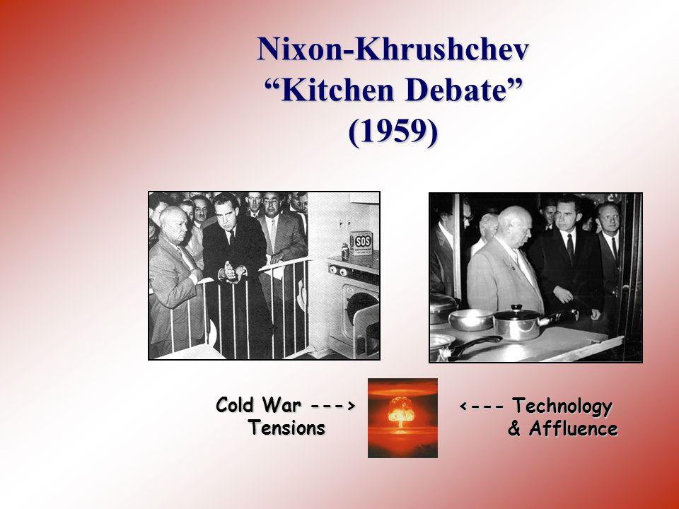 Nixon-Khrushchev Kitchen Debate (1959)