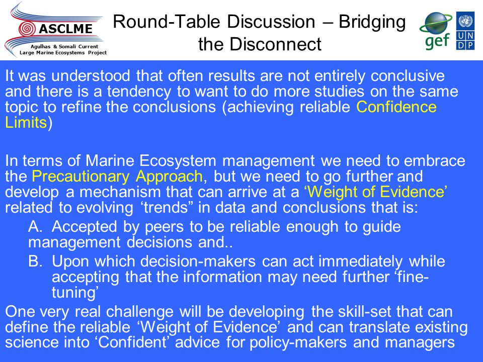 Round-Table Discussion – Bridging the Disconnect