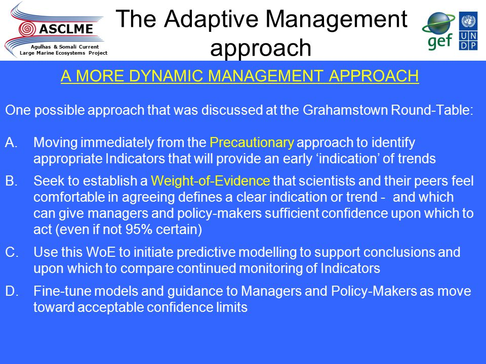 The Adaptive Management approach