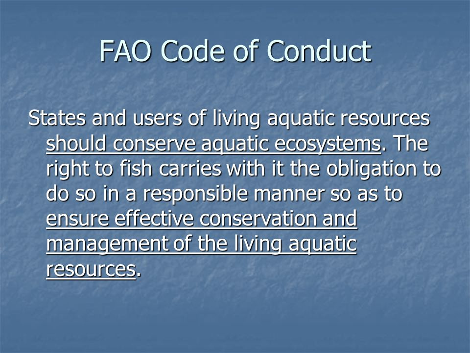 FAO Code of Conduct