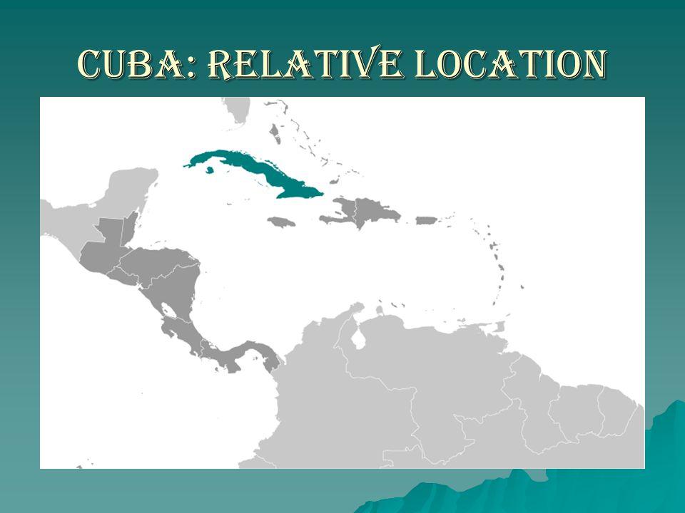 Cuba: Relative Location