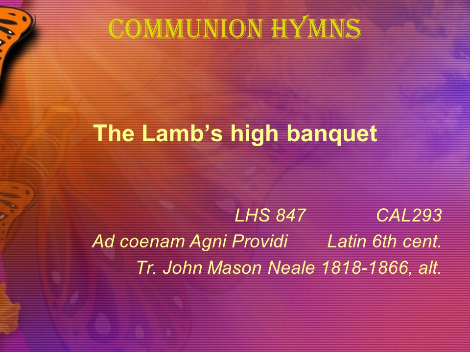 The Lamb's high banquet