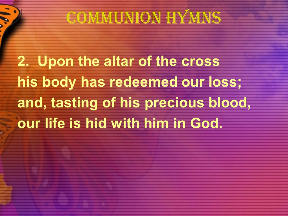 COMMUNION HYMNS 2.
