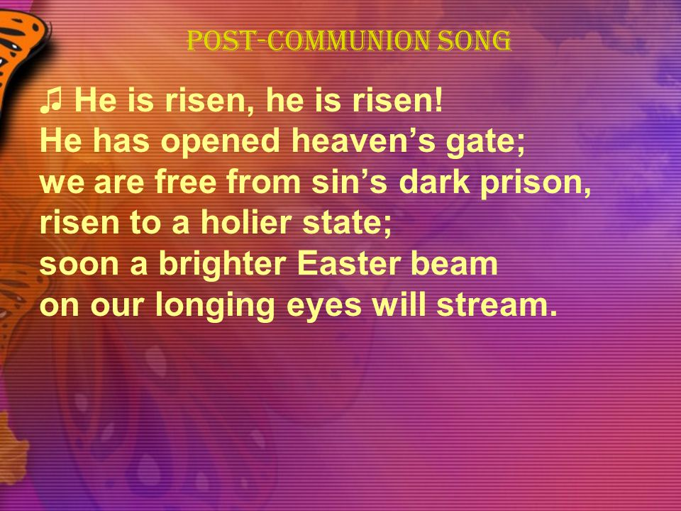 POST-COMMUNION SONG