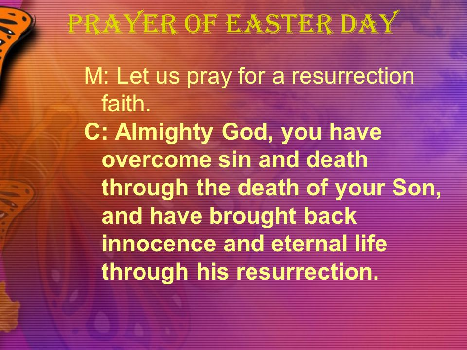 PRAYER OF EASTER DAY