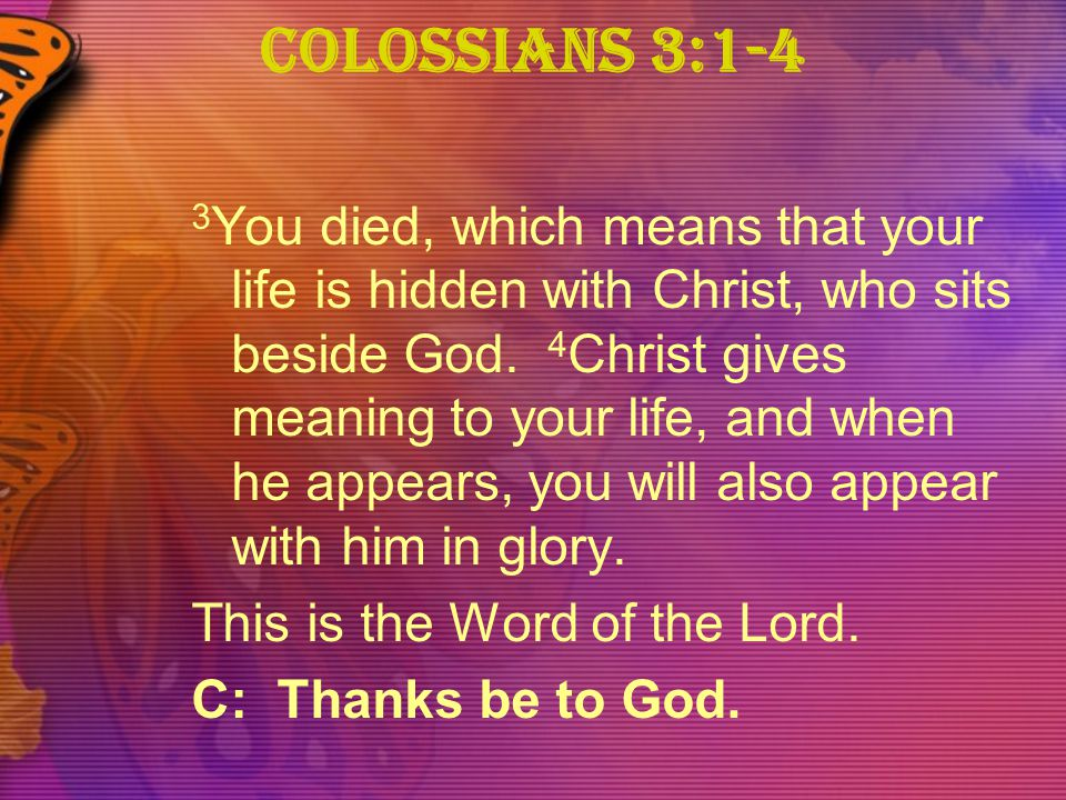 Colossians 3:1-4