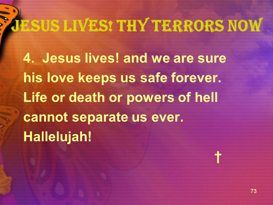 Jesus lives! thy terrors now