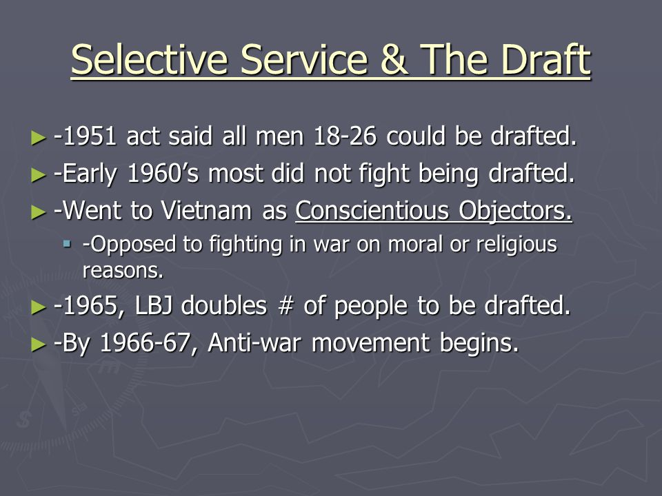 Selective Service & The Draft