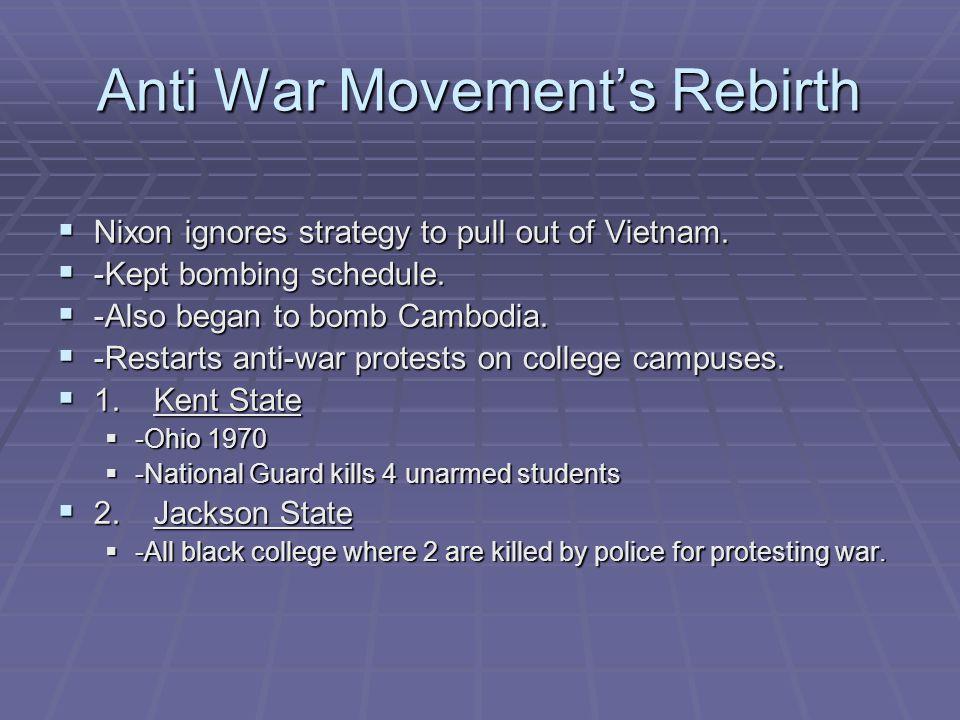 Anti War Movement's Rebirth