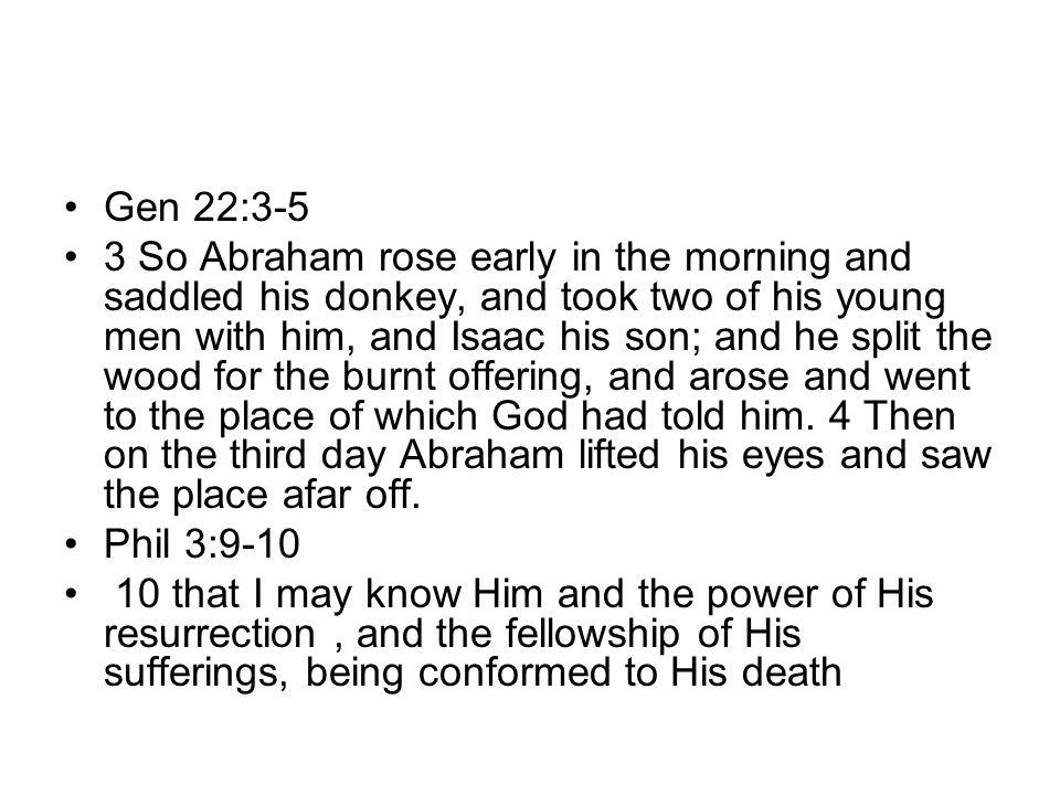 Gen 22:3-5