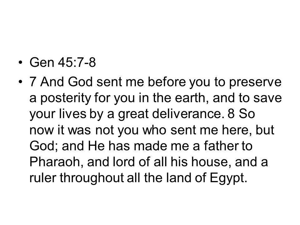 Gen 45:7-8