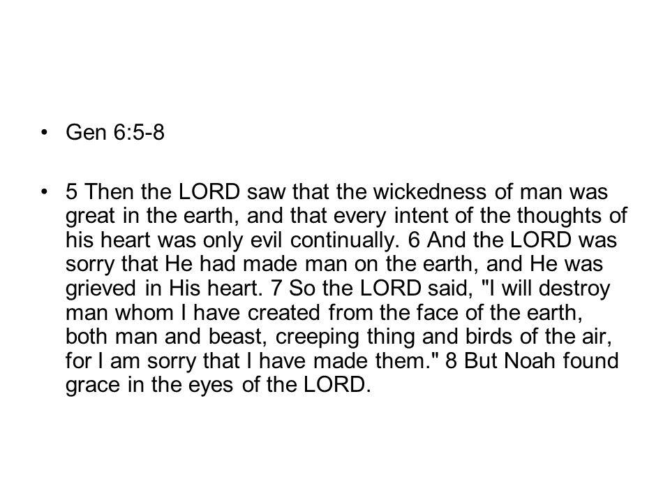 Gen 6:5-8