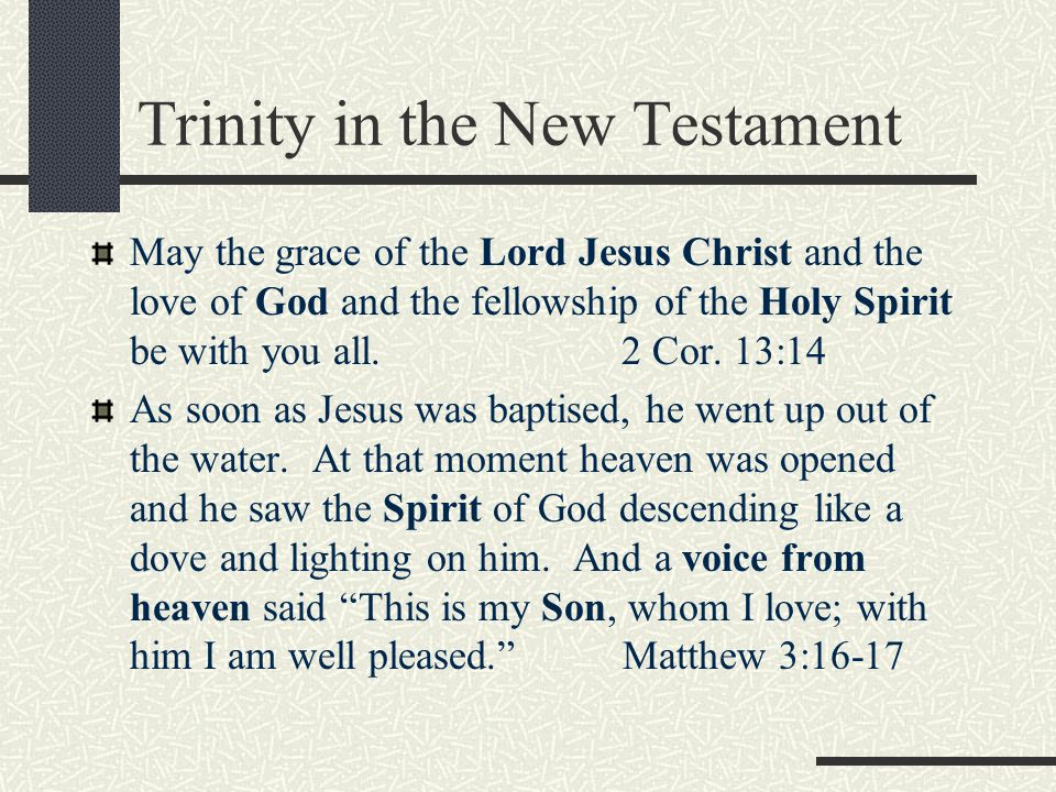 Trinity in the New Testament