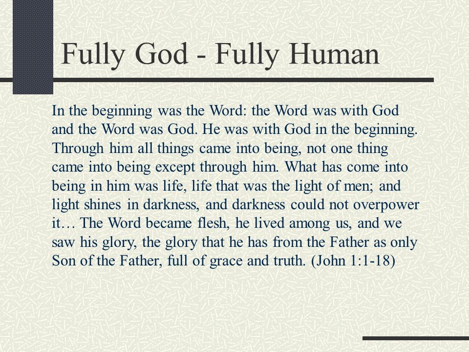 Fully God - Fully Human