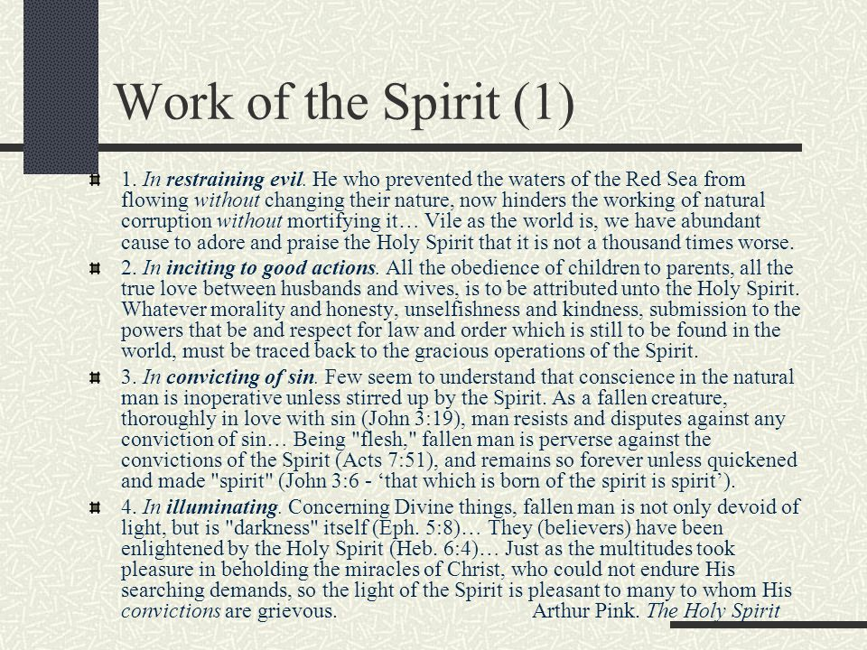 Work of the Spirit (1)