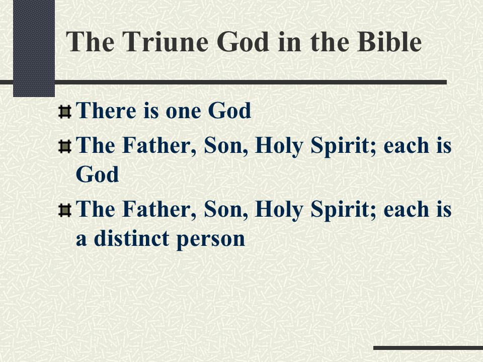 The Triune God in the Bible