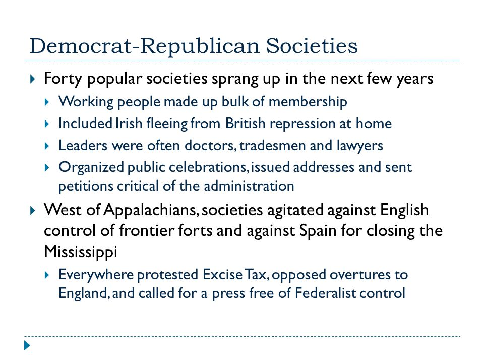 Democrat-Republican Societies