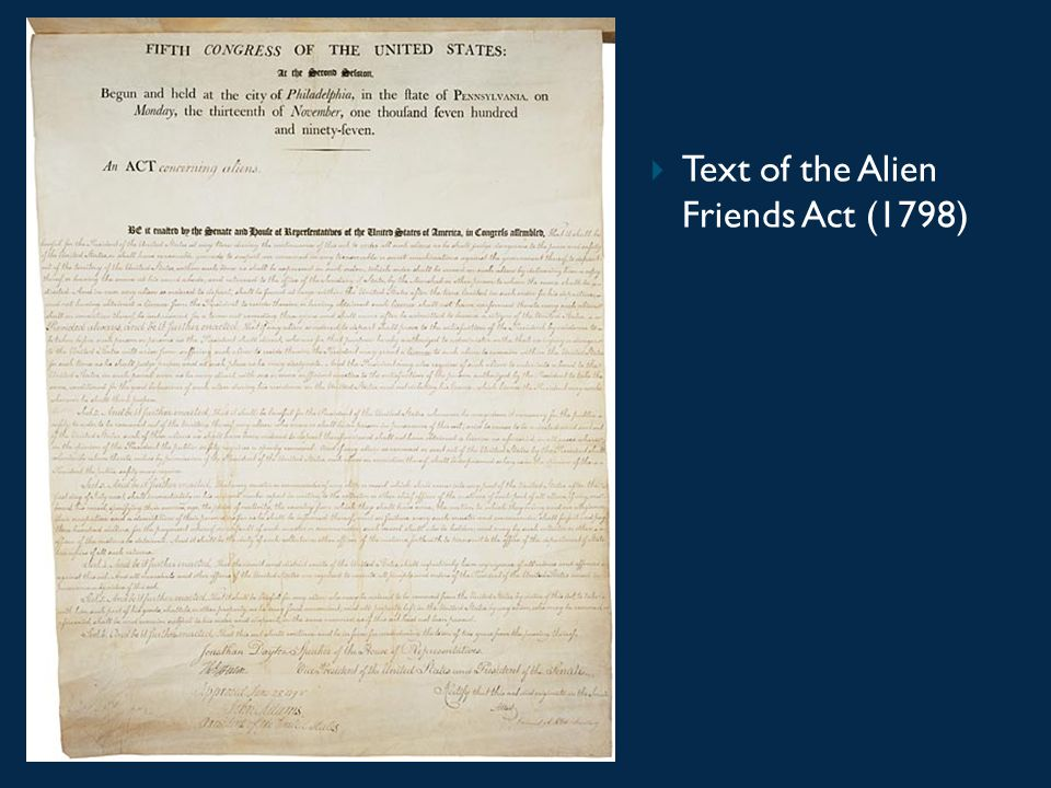 Text of the Alien Friends Act (1798)